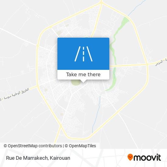 Rue De Marrakech plan