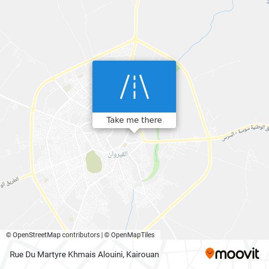 Rue Du Martyre Khmais Alouini plan