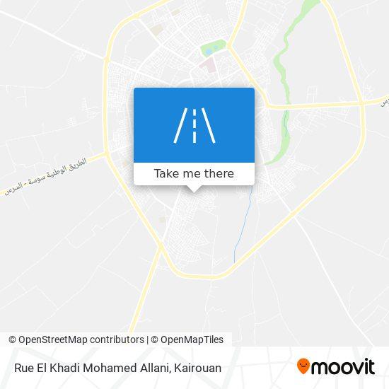 Rue El Khadi Mohamed Allani plan