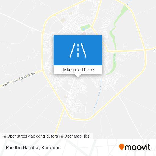 Rue Ibn Hambal plan
