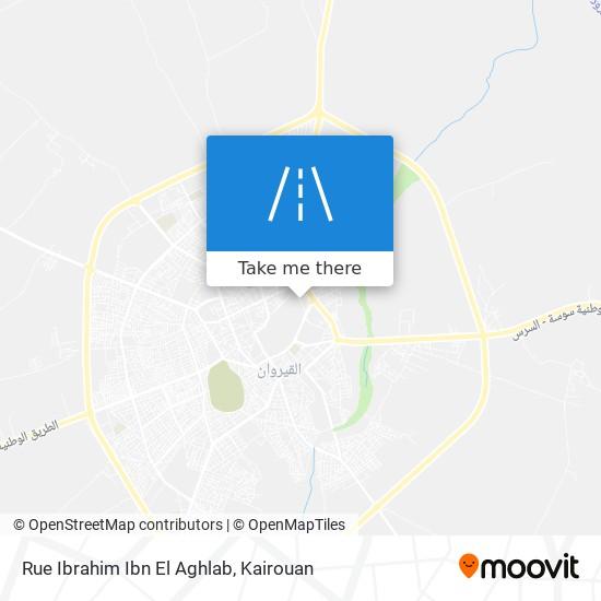 Rue Ibrahim Ibn El Aghlab plan