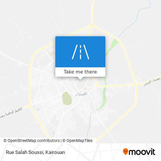 Rue Salah Soussi plan