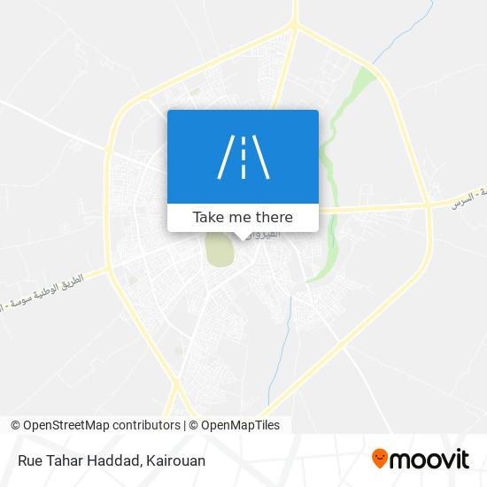 Rue Tahar Haddad plan