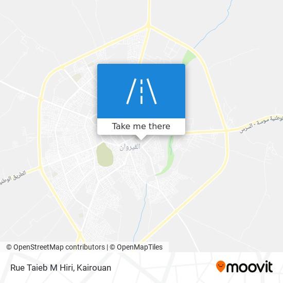 Rue Taieb M Hiri plan