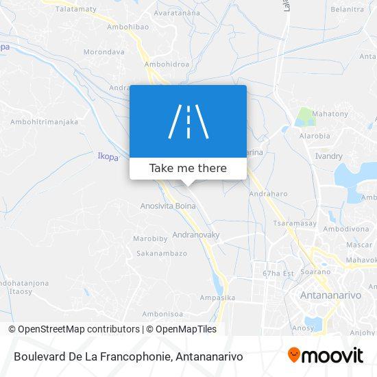 Boulevard De La Francophonie map