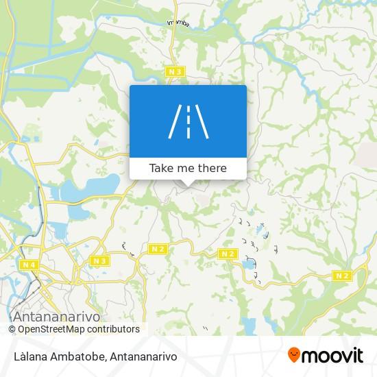 Làlana Ambatobe map