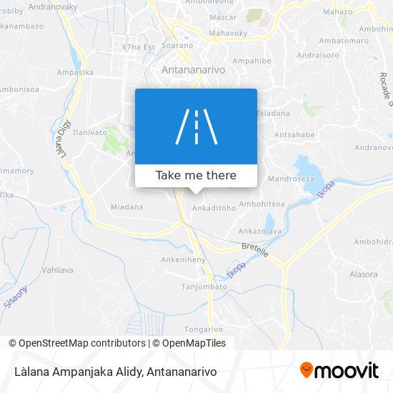 Làlana Ampanjaka Alidy map