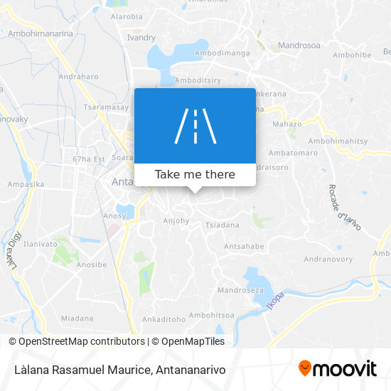 Làlana Rasamuel Maurice map