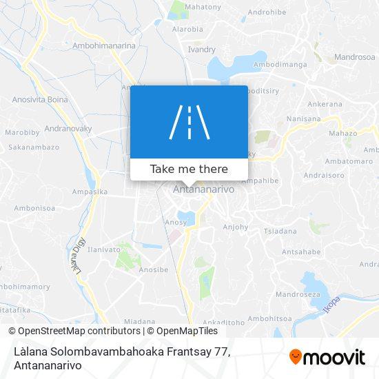 Làlana Solombavambahoaka Frantsay 77 map
