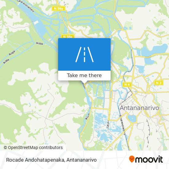 Rocade Andohatapenaka map