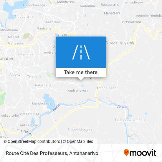 Route Cité Des Professeurs map