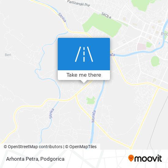 Arhonta Petra map