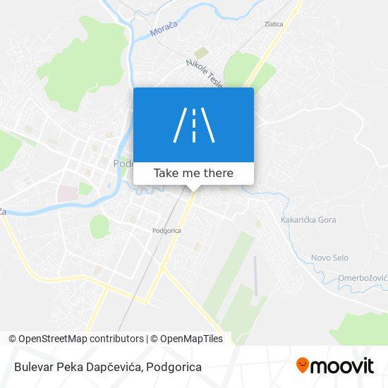Bulevar Peka Dapčevića map
