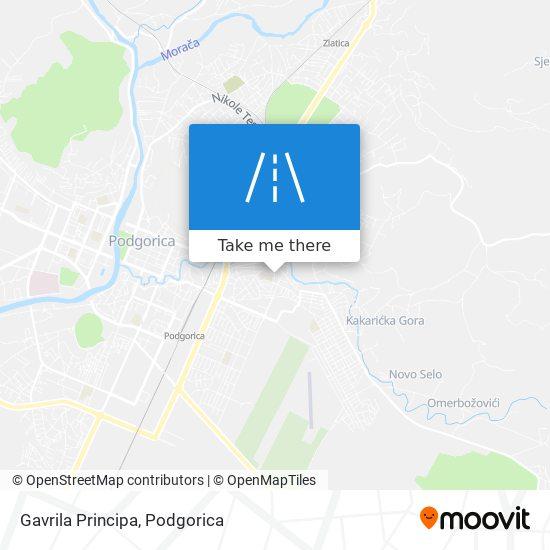 Gavrila Principa map