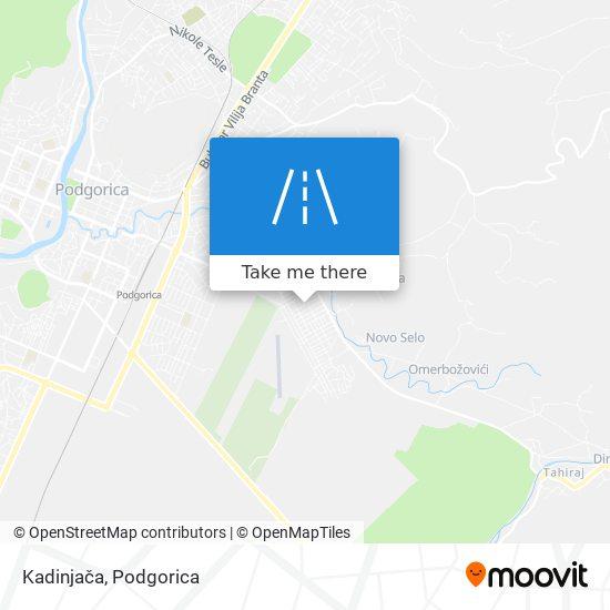 Kadinjača map