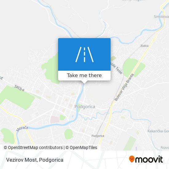 Vezirov Most map