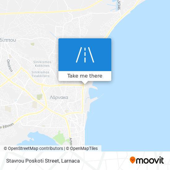 Stavrou Poskoti Street χάρτης
