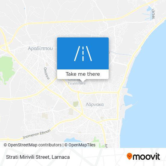 Strati Mirivili Street χάρτης