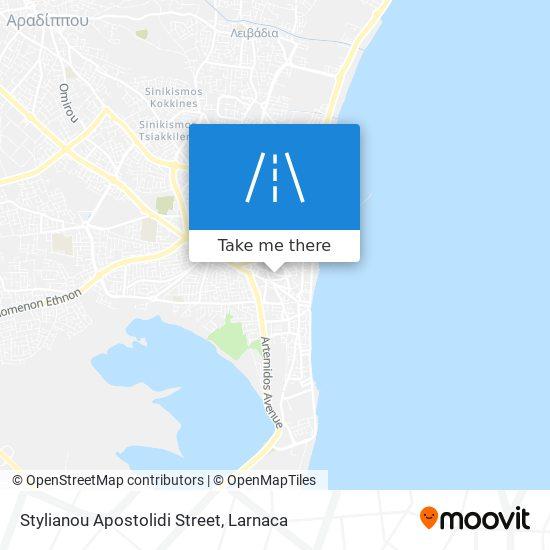 Stylianou Apostolidi Street χάρτης