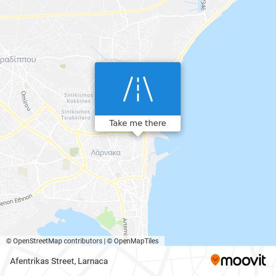 Afentrikas Street χάρτης