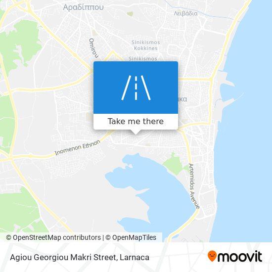 Agiou Georgiou Makri Street χάρτης