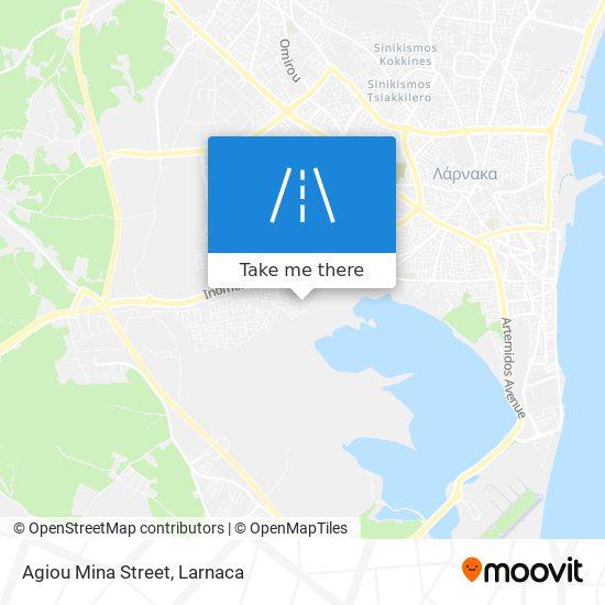 Agiou Mina Street χάρτης