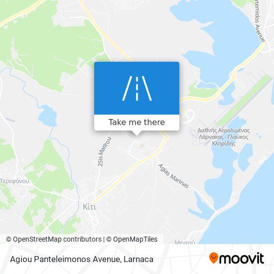 Agiou Panteleimonos Avenue χάρτης