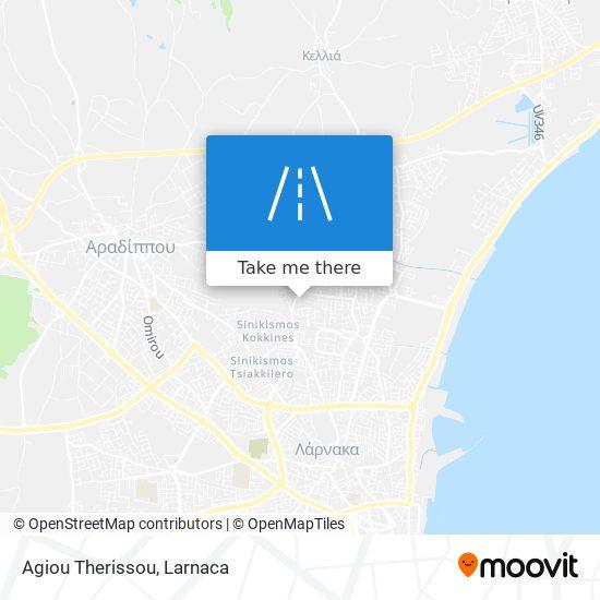 Agiou Therissou χάρτης