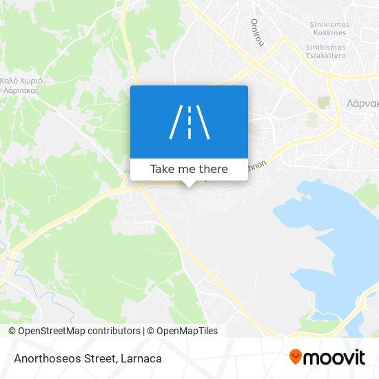 Anorthoseos Street χάρτης