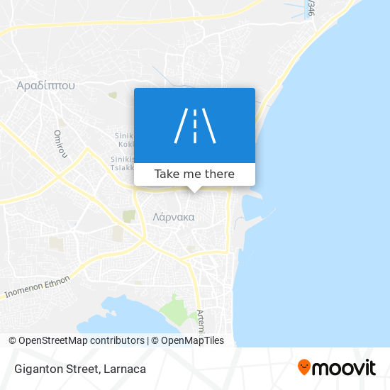 Giganton Street χάρτης