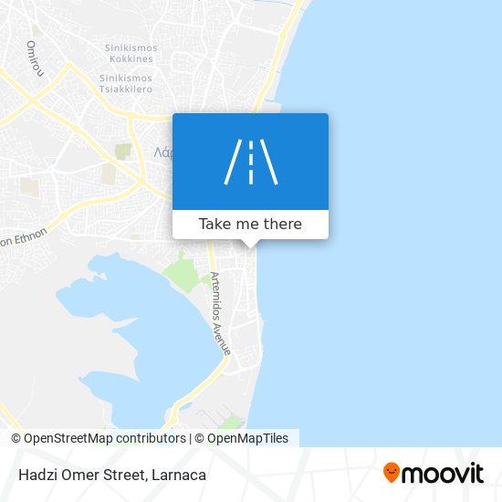 Hadzi Omer Street χάρτης