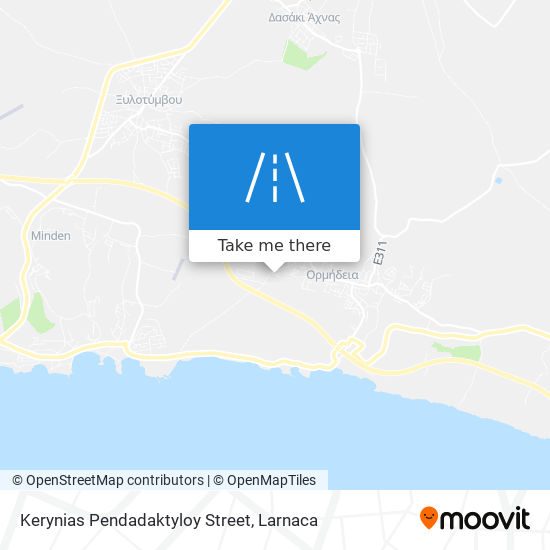 Kerynias Pendadaktyloy Street χάρτης