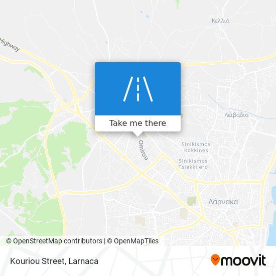 Kouriou Street χάρτης