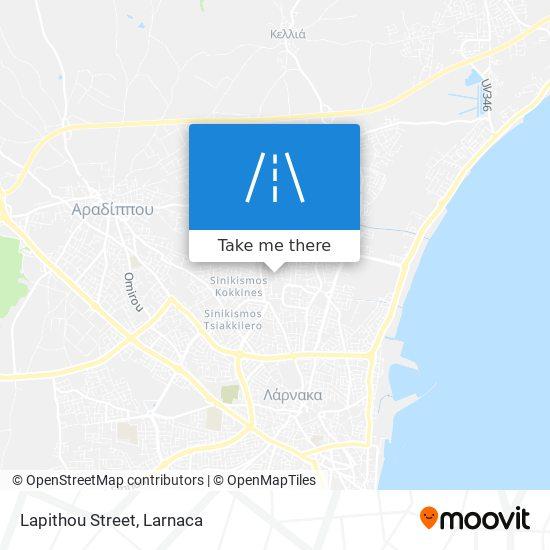 Lapithou Street χάρτης