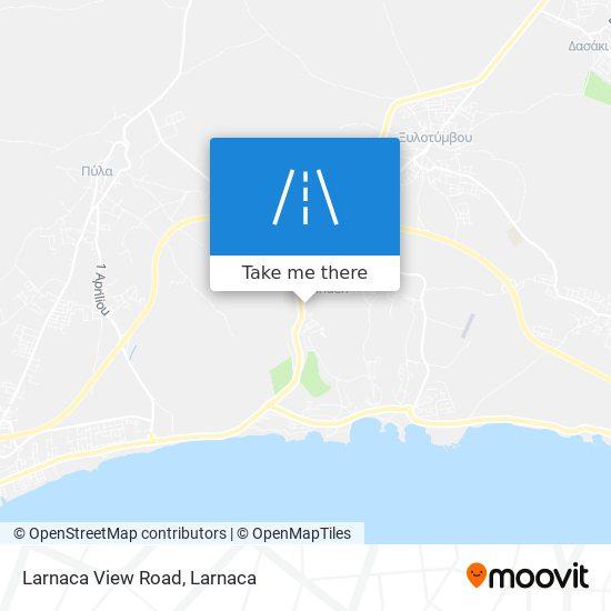 Larnaca View Road χάρτης