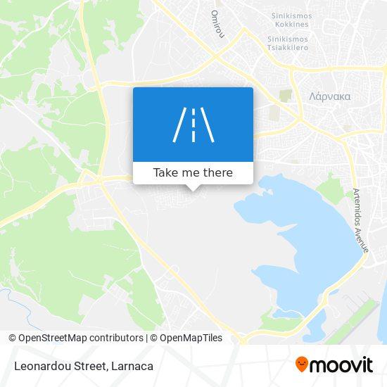 Leonardou Street χάρτης