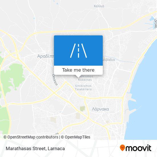 Marathasas Street χάρτης