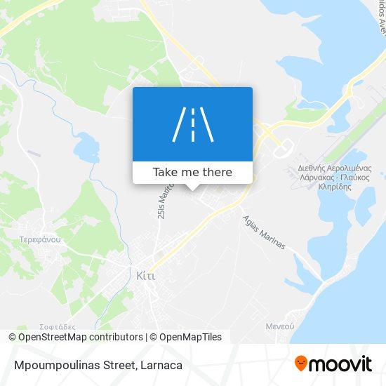 Mpoumpoulinas Street χάρτης