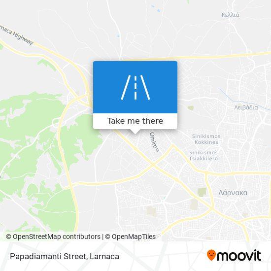 Papadiamanti Street χάρτης