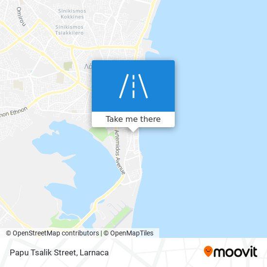 Papu Tsalik Street χάρτης