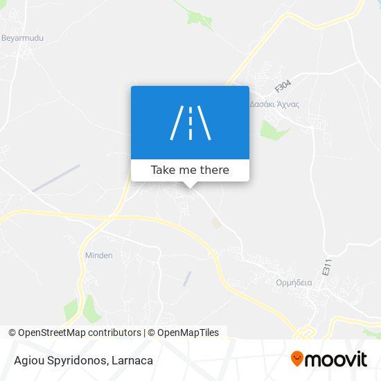 Agiou Spyridonos χάρτης