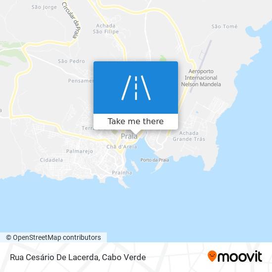 Rua Cesário De Lacerda mapa