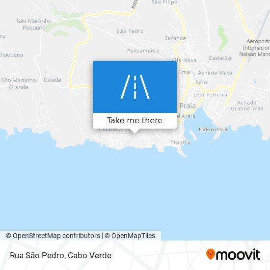 Rua São Pedro mapa