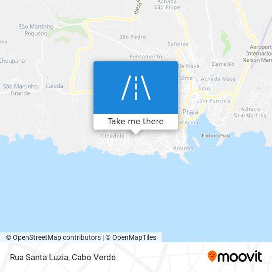 Rua Santa Luzia mapa