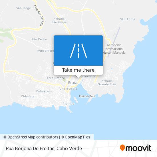 Rua Borjona De Freitas mapa