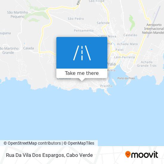 Rua Da Vila Dos Espargos mapa