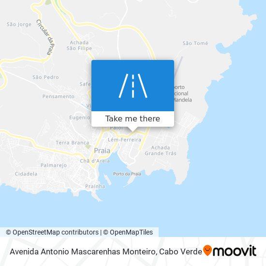 Avenida Antonio Mascarenhas Monteiro mapa