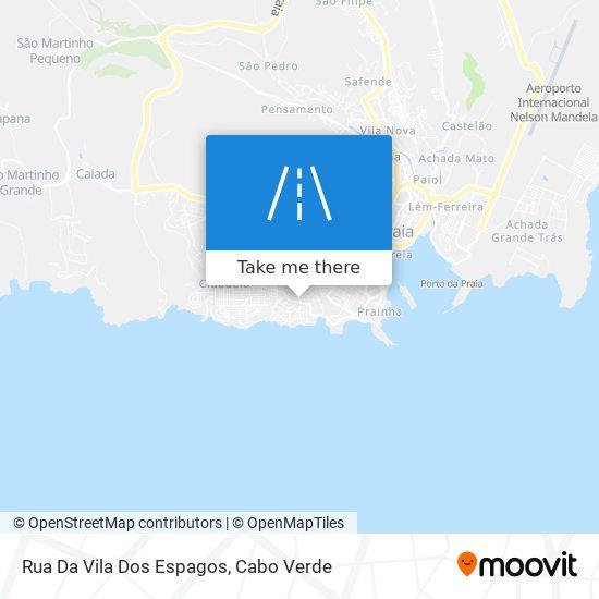 Rua Da Vila Dos Espagos mapa