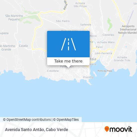 Avenida Santo Antão mapa