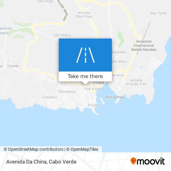 Avenida Da China mapa